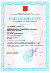 Свидетельство об утверждении типа средств измерений (МЕТЕР ДМ)